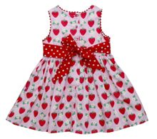 Girl`s strawberry party dress