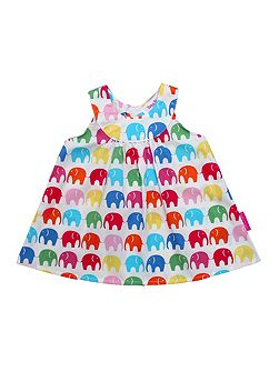 Girl`s multi elly baby dress and pants