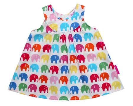 Toby Tiger Girl`s multi elly baby dress and pants