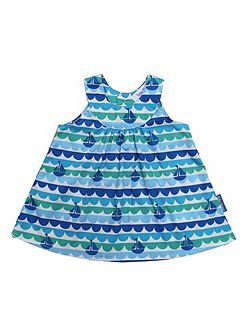 Girl`s boat baby dress and pants