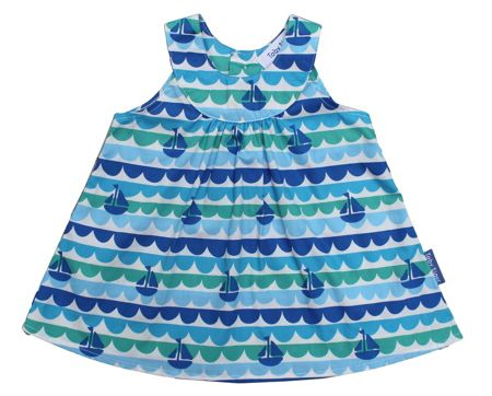 Toby Tiger Girl`s boat baby dress and pants