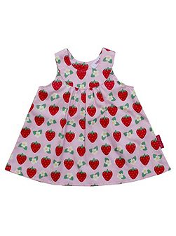 Toby Tiger Girl`s strawberry baby dress and pants