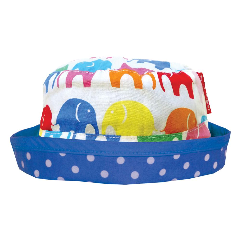 Girl`s reversible multi elly sun hat