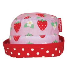 Toby Tiger Girl`s reversible strawberry sun hat
