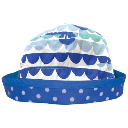 Toby Tiger Girl`s reversible boat sun hat