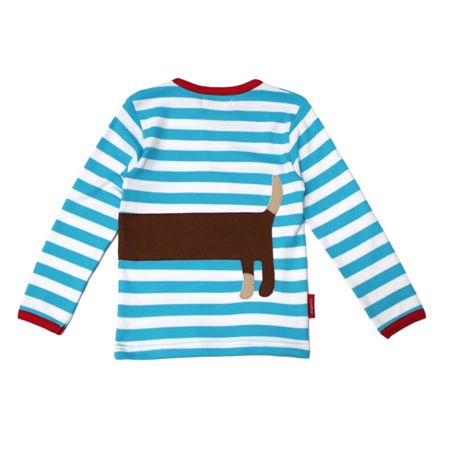 Kid`s organic cotton sausage dog t-shirt
