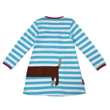 Girl`s organic cotton sausage dog t-shirt dress