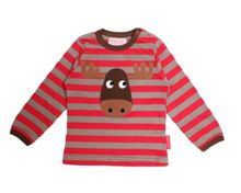 Kids organic cotton moose t-shirt
