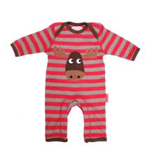 Kids organic cotton moose sleepsuit