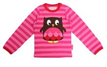 Girls organic cotton owl t-shirt