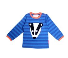 Kids organic cotton badger t-shirt