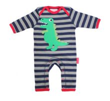 Kids organic cotton t-rex sleepsuit