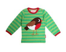 Kids organic cotton robin t-shirt