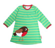 Girls organic cotton robin t-shirt dress