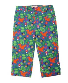 Toby Tiger Girls squirrel cord trousers with popper