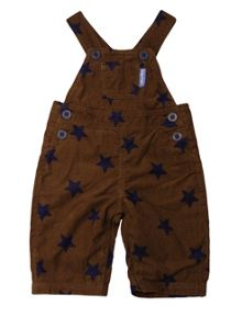 Kids cord dungarees with blue stars