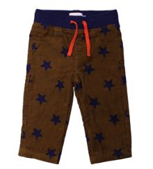 Kids drawstring star print trousers
