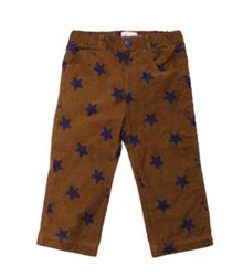 Kids cord poppered star print trousers