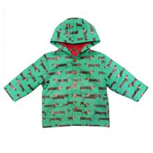 Toby Tiger Kids sausage dog raincoat with hood