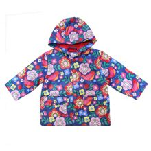 Girls bird and flower raincoat with hood