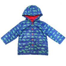 Toby Tiger Kids dinosaur raincoat with hood