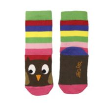 Toby Tiger Girls cotton mix owl socks