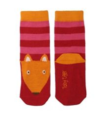 Toby Tiger Girls cotton mix pink fox  socks