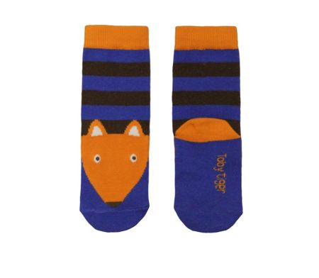 Toby Tiger Kids cotton mix blue fox  socks