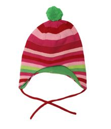 Toby Tiger Girls knitted stripe hat