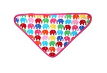 Baby girls multi elly dribble bib