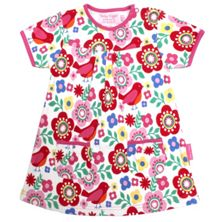 Baby girls bird flower printed dress