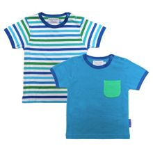Toby Tiger Babies stripe t-shirt two pack