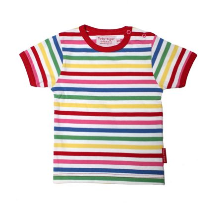 Toby Tiger Baby girls stripe t-shirt two pack