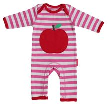 Baby girls apple applique sleepsuit