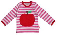 Baby girls apple applique t-shirt