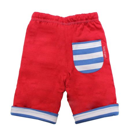 Toby Tiger Babies stripe reversible trousers