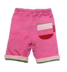 Toby Tiger Baby girls reversible trousers