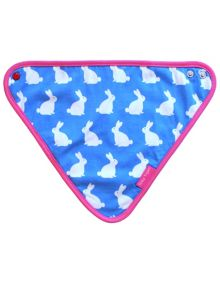 Toby Tiger Baby Girls Bunny Dribble Bib