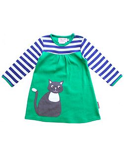 Baby Girls Cat Applique T-Shirt Dress