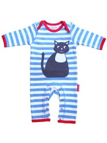 Toby Tiger Babies elly applique sleepsuit
