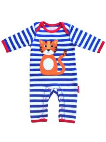Baby Tiger Applique Sleepsuit
