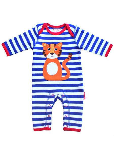 Toby Tiger Baby Tiger Applique Sleepsuit