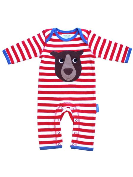 Toby Tiger Baby Bear Applique Sleepsuit