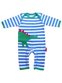Toby Tiger Baby Dinosaur Applique Sleepsuit