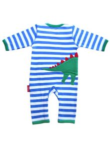 Baby Dinosaur Applique Sleepsuit
