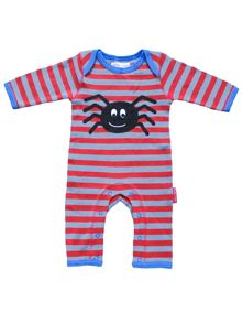 Toby Tiger Baby Spider Applique Sleepsuit