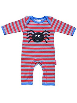Baby Spider Applique Sleepsuit