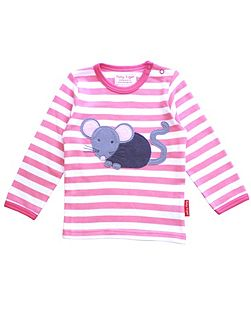 Girls Mouse Applique T-Shirt