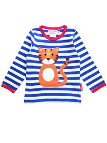 Toby Tiger Kids Tiger Applique T-Shirt