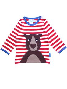 Toby Tiger Kids Bear Applique T-Shirt
